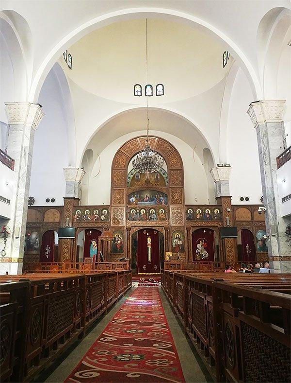 église copte Hurghada intérieur.