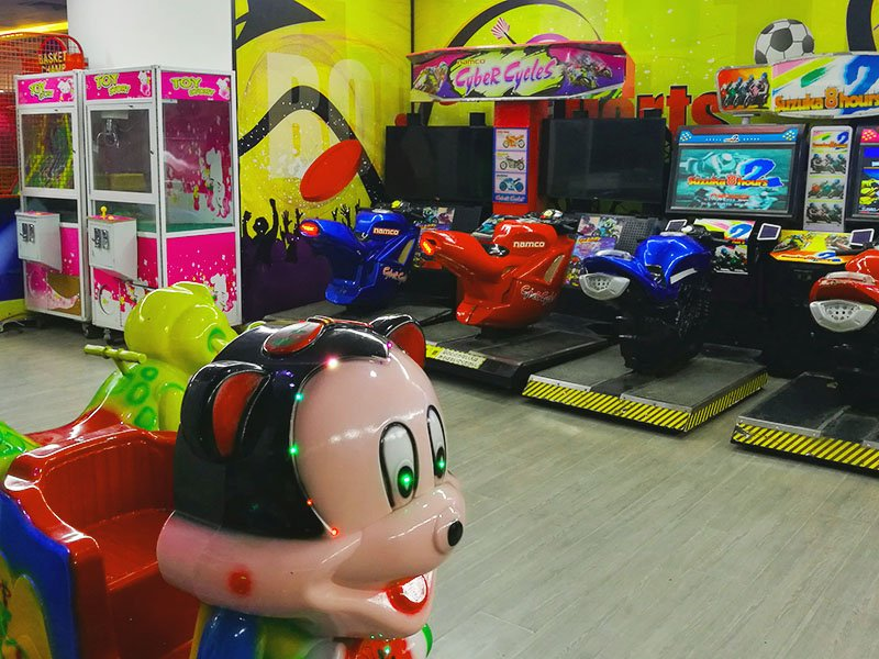 Playing area for kids.