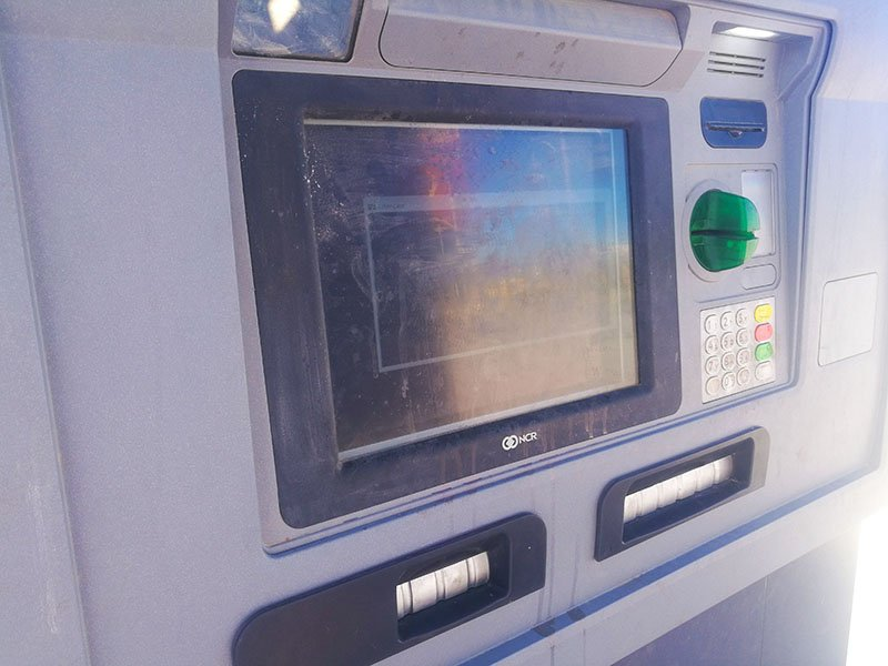 ATM with exchange option. There are usually two slots in the ATM machine if exchange is possible.