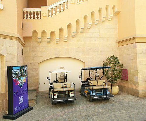 Sahl Hasheesh Egypt. Golf carts in the old Sahl Hasheesh old town.