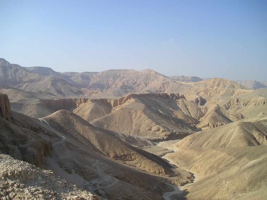 The valley of the kings is very hot in june, july & august